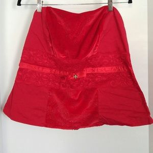 Red Sparkly Bustier Style Torrid Top